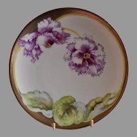 P. T. Bavaria Cabinet Plate w/Cyclamen Floral Motif