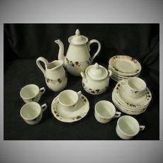 Victorian 23-Piece Porcelain Hand-Decorated Child/Doll Tea Set
