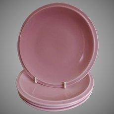 "Vernon Kilns ""Ultra California"" Pink Carnation Bread & Butter Plates - Set of 4"