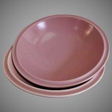 "Vernon Kilns ""Ultra California"" Pink Carnation Open Serving Bowl"
