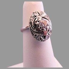 Vintage Art Deco 14K White Gold w/.40 Carat Diamond Ladies Cocktail Ring