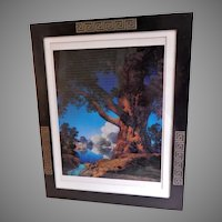 Vintage Arts & Crafts Bronze & Silver Picture Frame