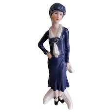 "Goebel ""Cosmopolitan - Flapper Style - Woman"" Figurine, TMK-6 Mark"