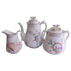 Sampson Bridgwood 3-Piece Aesthetic Design Coffee Service, Circa 1885