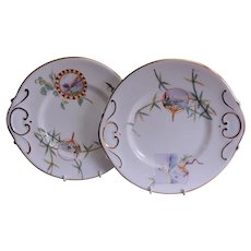 Sampson Bridgwood Pair of Aesthetic Design Serving Plates, Circa 1885