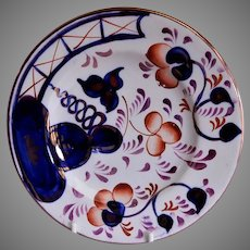 """19th Century Gaudy Welsh Earthernware """"Oyster"""" Pattern Plate"""