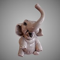 "Ceramic Arts Studio, Madison, WI ""Seated Elephant"" Figurine"