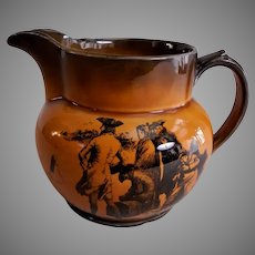 "Ridgway Pottery ""Coaching Days & Coaching Ways"" Squatty Pitcher"