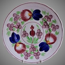 Villeroy & Boch Stick Spatterware Luncheon Plate w/Virginia Rose Pattern