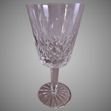 "Set of 2 - Waterford Crystal ""Lismore"" Pattern Water Goblets"