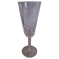 """Set of 2 - Waterford Crystal """"Lismore"""" Pattern Champagne Flutes"""