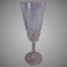 "Set of 2 - Waterford Crystal ""Lismore"" Pattern Champagne Flutes"