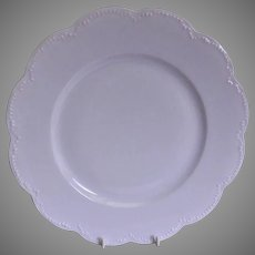Charles Haviland & Co. Limoges - Blank #5 Plain White Dinner Plates - Set of 6