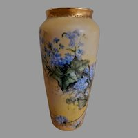 CT Altwasser Silesia Hand Painted Vase w/Forget-Me-Not Motif