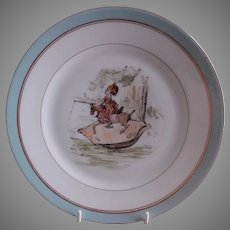 Charles Haviland H.P. Cabinet Plate w/Whimsical Victorian Children's Scene, #1 of 5