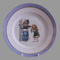 Charles Haviland H.P. Cabinet Plate w/Whimsical Victorian Children's Scene, #2 of 5