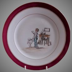 Charles Haviland H.P. Cabinet Plate w/Whimsical Victorian Children's Scene, #3 of 5