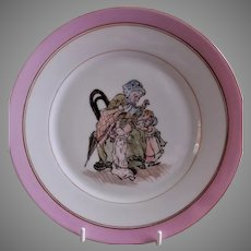 Charles Haviland H.P. Cabinet Plate w/Whimsical Victorian Children's Scene, #4 of 5