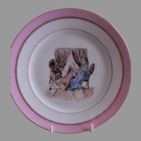 Charles Haviland H.P. Cabinet Plate w/Whimsical Victorian Children's Scene, #5 of 5