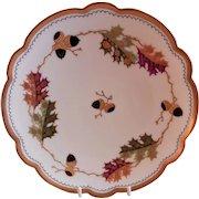 "Pickard Studio Hand Painted ""Oak Leaves & Acorns"" Cabinet Plate"
