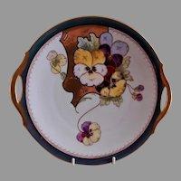 """Edward Donath Studio Art Nouveau """"Pansy"""" Plate - Chicago"""