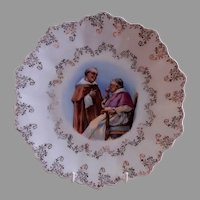 "Z. S. & Co. Bavaria ""Punch"" Cabinet Plate w/Two Monks Transfer Motif"