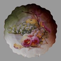 """Z. S. & Co. Bavaria """"Punch"""" Cabinet Plate w/Fruits Transfer Motif"""