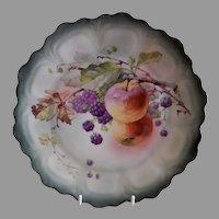 "Z. S. & Co. Bavaria ""Punch"" Cabinet Plate w/Fruit Transfer Motif"