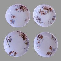 Charles Haviland & Co. - Set of 4 -  Individual Salt Dishes w/Floral Motif -  Circa 1880