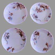 Charles Haviland & Co. - Set of 4 -  Individual Salt Dishes w/Floral Motif -  Circa 1880