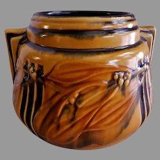 "Roseville Pottery Art Deco ""Laurel"" Pattern Vase w/Buttress Handles - #250-6"