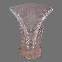 "Heisey Glass ""Orchid"" Fan Shaped Vase - Lariat Blank"