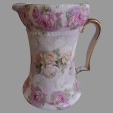 "Royal  Bayreuth ""Rose Tapestry"" Cream Pitcher"