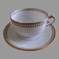 "Charles Haviland & Co. ""Art Deco"" Cups & Saucers - Set of 6"