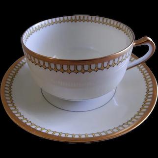 "Charles Haviland & Co. ""Art Deco"" Cups & Saucers - Set of 6"