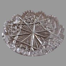 """Hawkes"" Brilliant Cut Glass Candy Dish or Nappy"
