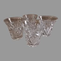 """Brilliant"" Cut Glass Corset Shape Tumblers - Set of 4"