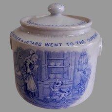 Whitaker & Co. Transfer-ware Nursery Rhyme Covered Sugar Bowl