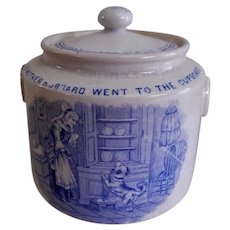 Whitaker & Co. Transfer-ware Nursery Rhyme Covered Sugar Bowl