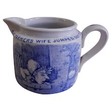 Whitaker & Co. Transfer-ware Nursery Rhyme Cream Pitcher