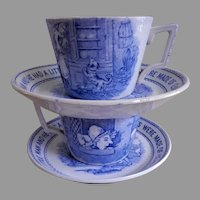 Whitaker & Co. Transfer-ware Nursery Rhyme Cups & Saucers - Pair