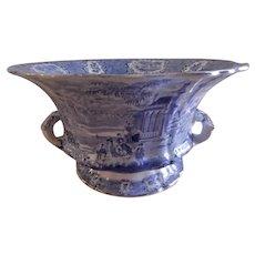 "William Ridgway Blue Transfer-ware ""Oriental"" Pattern Console Bowl"