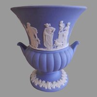 Wedgwood Jasper-Ware Posy Vase w/Neoclassical Decoration