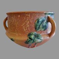 """Roseville Pottery """"Fuchsia"""" Terra Cotta Hanging Basket - #359-5"""