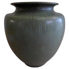 """Ephraim Faience Pottery """"Experimental"""" Vase - Chestnut Glaze"""