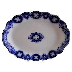"Johnson Bros Blue Flow ""Savoy"" Pattern Oval 12 1/2"" Platter"