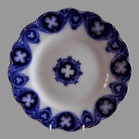 "Johnson Bros Blue Flow ""Savoy"" Pattern 9 3/4"" Dinner Plate"