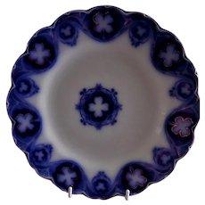"""Johnson Bros Blue Flow """"Savoy"""" Pattern 8 3/4"""" Luncheon Plate"""