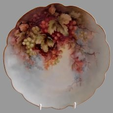 Bavaria Hand Painted & Artist Signed Cabinet Plate w/Clusters of Currants Motif