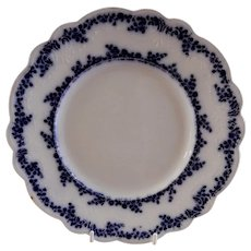 "William Grindley & Co Flow Blue ""Aldine"" Pattern Dinner Plate"